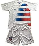 Enevva USA National Team 2018-2019 Youths/Kids Home Soccer Jersey & Shorts