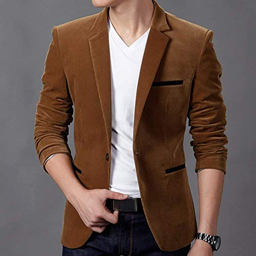 Maniche Khaki Giacche Casual Lunghe Moderna Elegante Da Bavero Suit Leisure Uomo Slim Dunkles Giacca A Fit Business vqYTzavw