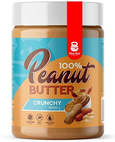 Cheat Meal Peanut Cream 100% Pakket van 1 x 1000g – Pindakaas – Zonder Extra -100% Geroosterde Pinda's (Crunchy)