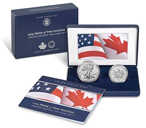 2019 W Pride of Nations Pride of Two Nations 2019 Limited Edition Two-Coin Set Gem Uncirculated