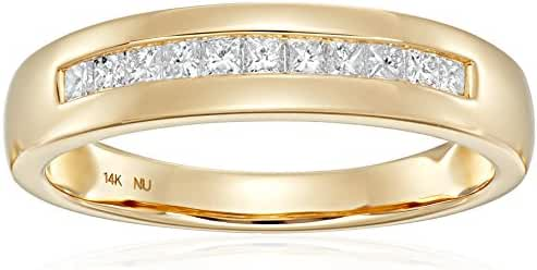 Men's 14k Yellow Gold Princess-Cut Diamond Wedding Band (1/2cttw, I-J Color, I1-I2 Clarity)