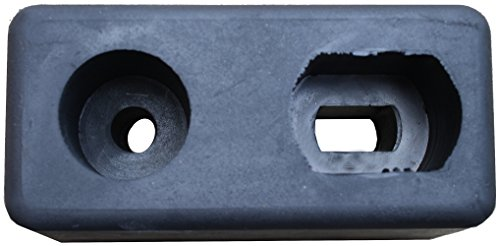 Trailer Rubber Bumper (Durable Corporation Rubber Molded Trailer Bumper, Rectangular, 2 Holes, 6