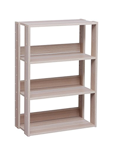 IRIS USA 3-Tier Wide Open Wood Bookshelf, Light Brown