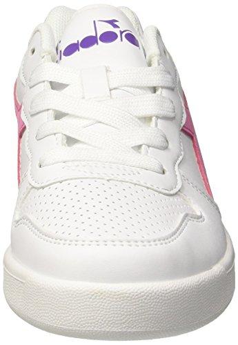 Zapatos blancos Diadora infantiles HR2CV2QiCy