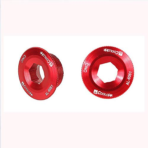 COOLOH MTB Crank Arm Bolt for Mountain Road Bike Bottom Bracket Cap M20x10 Crankset Screw for Parts Bicycle Axis Screws (Red)