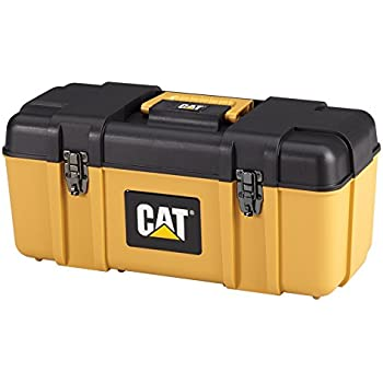 """Cat Heavy-Duty Plastic Tool Box with Removable Tote, 20"""" W - Designed, Engineered and Assembled in the USA"""