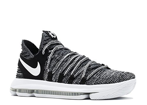 NIKE Men's Zoom KD 10 Basketball Shoe (11 D(M) US, Black/White)