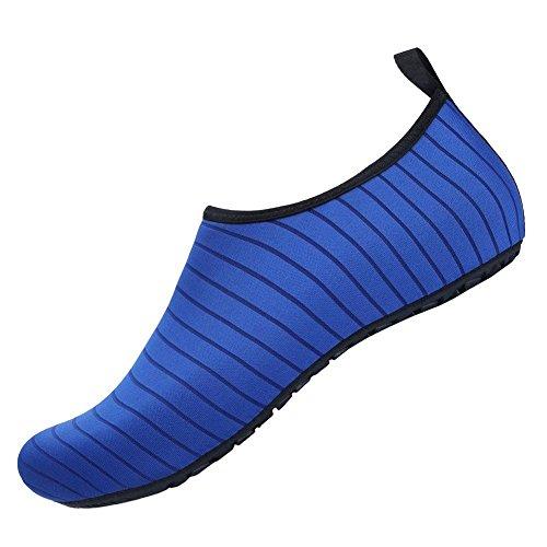 Aqua de Piel COMVIP Hombres Adulto rápido Barefoot Zapatos Azul Calcetines Agua Yoga Secado de del qOHYS