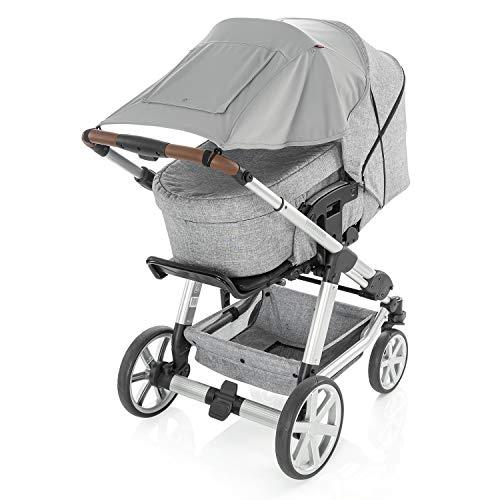 Pure ShineSafe Premium Luifel en sluimerdoek voor de kinderwagen, grijs