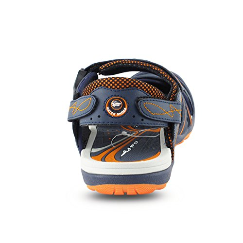Gold Taube Schuhe GP5937 Männer Frauen Snap Lock Sport Wasser Schuhe Sandalen: Einfacher Magnetverschluss 7643 Navy Orange