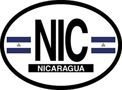 4 x flag decals sticker bike scooter car vinyl helmet motorcycle nicaragua