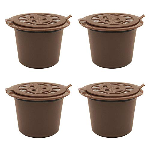 4pcs Reusable Coffee Capsule Filter Shell for Nespresso Machine - Coffee