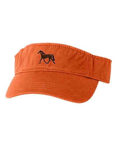 Go All Out Adjustable Orange Adult Horse Embroidered -