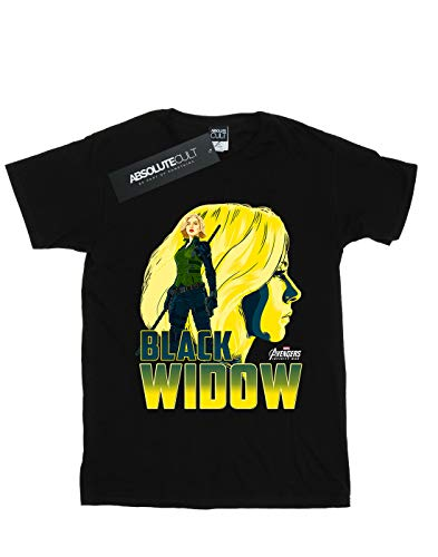 Widow dei Maglietta Homme Black Infinity personaggi Noir Avengers War di 4qrZ8dq
