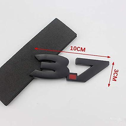 Nero PT-Decors Nero Argento Metallo da 3,7 Litri Simbolo Distintivo Adesivi per Auto Parafanghi Laterali per Auto Paraurti Anteriore Tronco Esterno Decalcomania