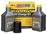 AMSOIL PK3 ATV/UTV Oil Change Kit 5W-50 Synthetic (2 Quarts of AUV50 and 1 Oil Filter)