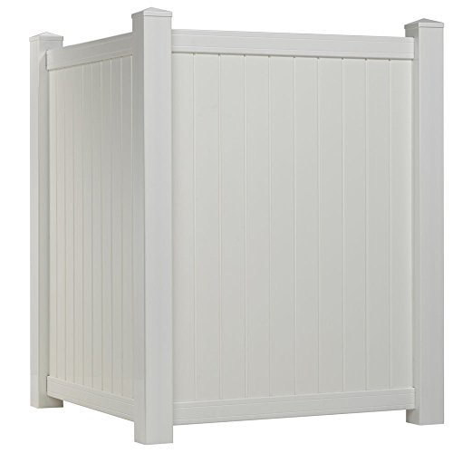 Outdoor Essentials White Vinyl Privacy Corner Accent Fence