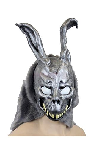 Donnie Darko Frank the Bunny Mask Latex Overhead with Fur Adult Costume ()