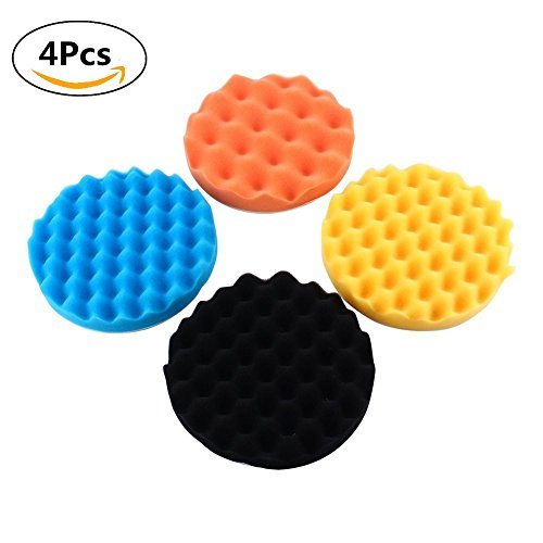 "7"" Car Buffing Pads Polishing Sponge Pads Kit for Car Sanding Polisher Buffer Wash Cleaning 4pcs Set"