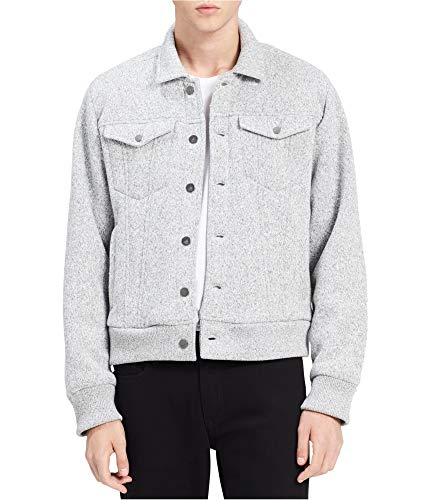 Calvin Klein Mens Bonded Fleece Trucker Jacket