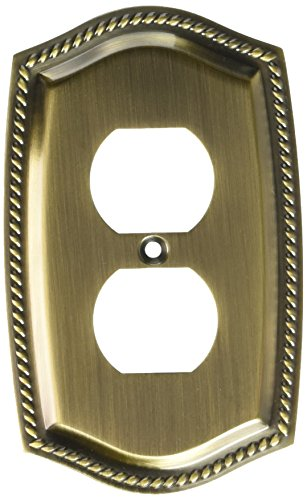 Baldwin 4789050 Outlet Rope Switch Plate, Antique Brass - Baldwin Rope Outlet