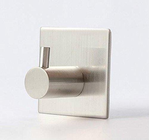 Dalino Square Single Hoo Stainless Steel Nail Free Coat Hook(Silver) by Dalino (Image #2)