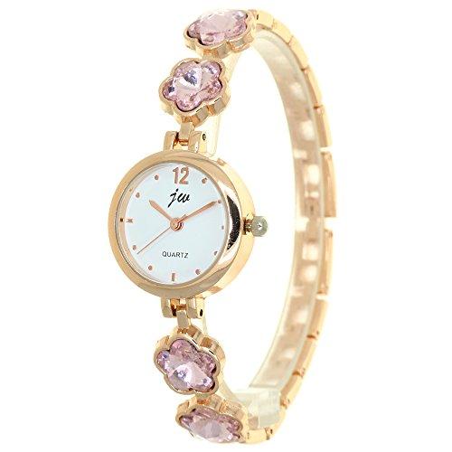 Plum Blossom Crystal Mounted Bracelet Band Jewellery Women Watch Arabic Dial Analog Quartz Dress Casual Business Gifts Wristwatch