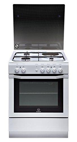 Indesit I6MSCAG(W)/FR Autonome Combi A Blanc four et cuisinière - Fours et cuisinières (Cuisinière, Blanc, boutons, Rotatif, Devant, Combi, Electrique)