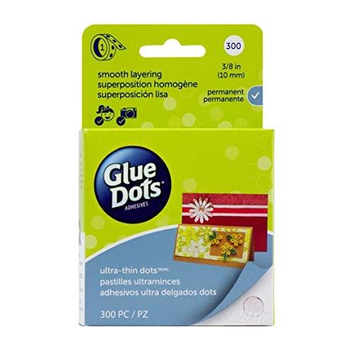Glue Dots Clear Dot Roll, Ultra Thin .375
