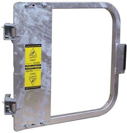 PS DOORS LSG-24-GAL Ladder Safety Gate Mild Carbon Steel, Galvanized, Fits Opening 22-3/4'' to 26-1/2'', Each by PS Doors