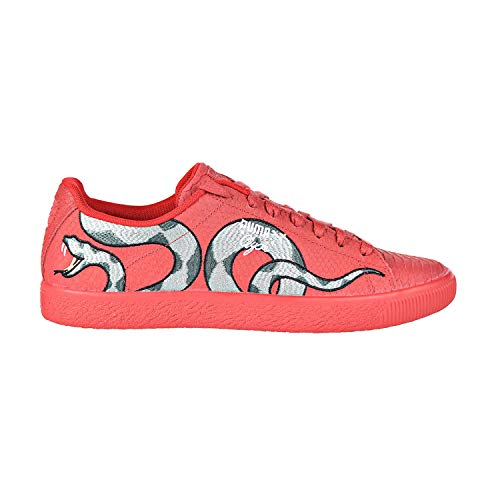 (PUMA Clyde Snake Embroidery Men's Shoes Ribbon Red/Laurel Wreath 368111-02 (9.5 D(M) US) )