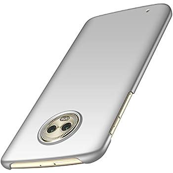 2f86fd20fbf Almiao Moto G6 Funda, Funda Protectora de teléfono Delgada Minimalista  Protector para Moto G6 (Plata Lisa)