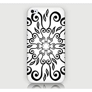 LCJ Retro Pattern Back Case for iPhone4/4S