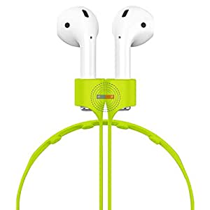 AirPods Strap,Hanlesi Apple AirPods Rope Silicone Wireless Earphone Anti-lost Strap Magnetic Adsorption AirPods Connector Holder Neck Strap for iPhone 8 / 7/7 Plus AirPods Green