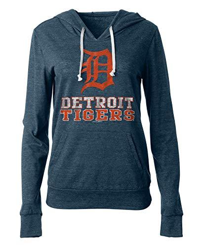 Tigers Womens Hoodie Sweatshirt - New Era Detroit Tigers Women's Playoff Tri-Blend Pullover Hoodie Large