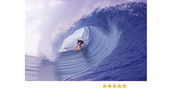 Affiche De Voyage Vintage Teahupoo Surf Toile Tableau Peinture Anime Art Mural R/éTro Bandes Dessin/éEs Nordique Salon Maison Decoration Murale Tableaux 40x60 Cm Sans Cadre