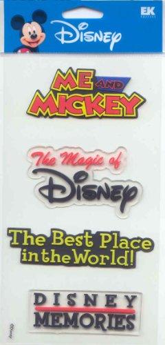 Jolee's Large 3-d Sticker College Disney Disneyland PVC Words Theme $5.99 Retail