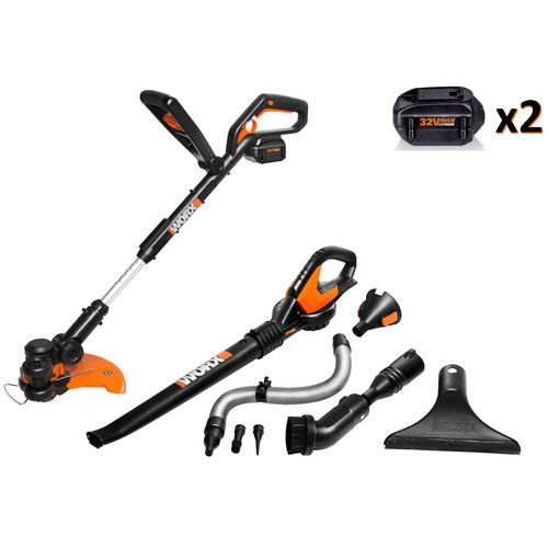 Worx WG924.4 32V MAX Lithium-Ion 2-Piece Outdoor Tool Combo Kit by Worx
