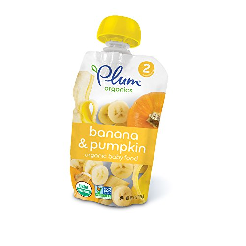 Plum Organics Stage 2, Organic Baby Food, Banana and Pumpkin, 4 ounce...