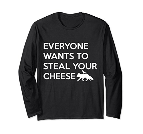 Unisex Everyone Wants To Steal Your Cheese Fox And Crow T-Shirt XL: Black (Black Crow Clothing)