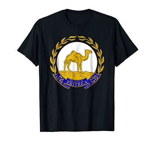 (Eritrea T-shirt Coat of arms Tee Flag souvenir)