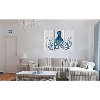 Amazon.com: Canvas print Wall decor Octopus Canvas Art Octopus ...