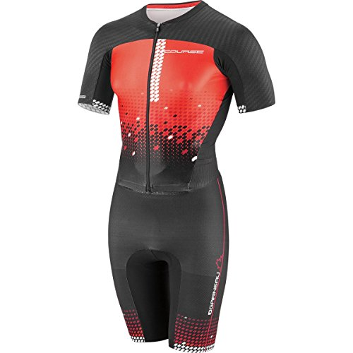 Louis Garneau Course LGneer Triathlon Skin Suit - Men's Black/Flame/Carmin, (Louis Garneau Tri Suit)
