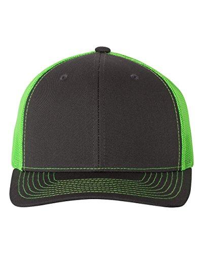 5e5f27eb38cf5 Richardson 112 Mesh Back Trucker Cap Snapback Hat (Charcoal Neon Green) - Buy  Online in Oman.
