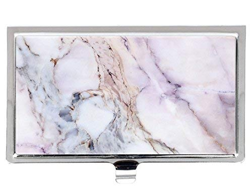 (Unique marble pattern Style Fashion Design Personlized Stainless Steel Professional Business Card Holder)