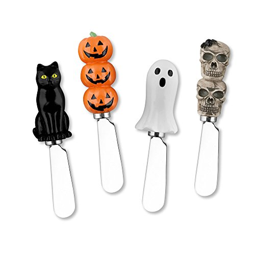 Mr. Spreader 4-Piece Halloween Resin Cheese Spreader