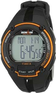 Timex Ironman Road Trainer - Reloj de caballero de cuarzo, correa de goma color negro (con pulsómetro, alarma, cuenta vueltas, luz, cronómetro)