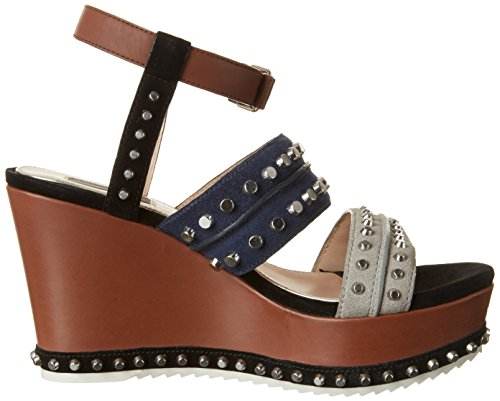 Steffen Multicolor Cristal blu Platform Woman grigio Sandals 10 Schraut Road rTxnwTS6