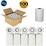 "(100 Rolls) 2 1/4"" x 50' thermal paper rolls clover"