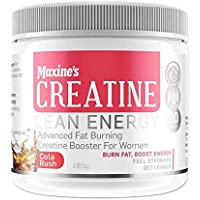 Maxine Creatine Cola Rush Flavour Advanced Fat Burning Booster for Women 180 g, Cola Rush180 grams